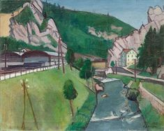 Choindez in the Jura , 1929 Painting, Art, Switzerland, Painting Art, Kunst, Art Background, Paintings, Performing Arts, Painted Canvas