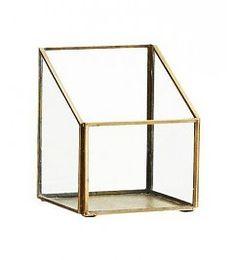 Madam Stoltz Glazenboxje 'brass' 13 cm