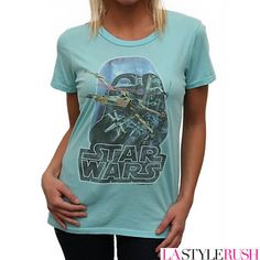 Vintage inspired t shirts | ... Star Wars Vintage Inspired T-Shirt in Frosting at LAStyleRush.com