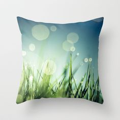 Grass++Throw+Pillow+by+Christian+Solf+-+$20.00