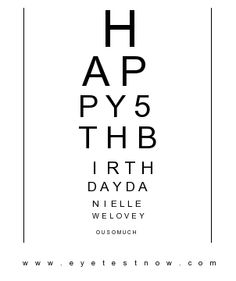 Create your free eye chart just like Hermann Snellen