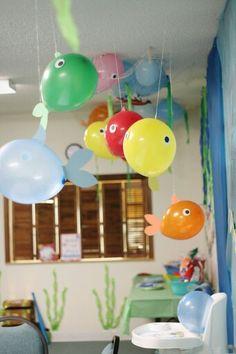 Boys First Birthday Party Ideas, Baby Boy 1st Birthday, Birthday Party Themes, Adoption Party, 1st Birthdays, Baby Shark, Balloon Fish, Creations, Grandparent