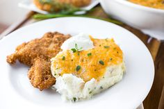 Roasted Garlic Mashed Potatoes with Broiled Cheddar, Like Warm Little Spoonfuls Of Bliss On The Tongue