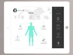 Show and tell for designers App Ui Design, Flat Design, Web Design, Body Chart, App Design Inspiration, Health App, Web Layout, Profile Design, Ui Kit