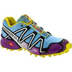 Salomon Speedcross 3 Lady Blue/Purple/Yellow : Trail Running Shoes - Women's Shoes: Holabird Sports