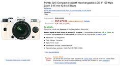 Vente flash Amazon avec -38% sur l'hybride Pentax Q10 en kit avec l'objectif 5-15mm f/2.8-4.5