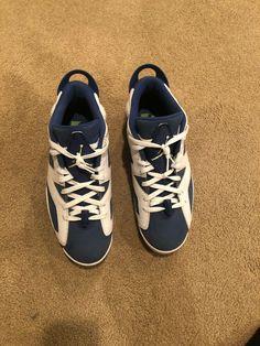 45c3bf51bc28 Nike Air Jordan VI 6 Retro Low Seahawks Size 10.5  fashion  clothing  shoes