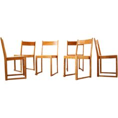 Sven Markelius Six stacking chairs, Bodafors 1932