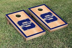 Wisconsin Stout Blue Devils Cornhole Game Set Hardcourt Border Version *** Check this awesome product by going to the link at the image.
