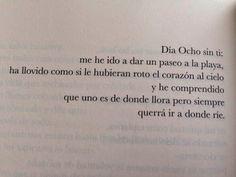 Free my mind: 12 días. 'Días sin ti', de Elvira Sastre. Precioso y más que eso, es la pura realidad.
