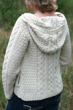 Plus Size: Trail Hoodie by Marly Bird, download on LoveKnitting