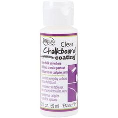 Americana Chalkboard Clear Coating 2 Ounces-:  Paint any color of wood surface to use as a chalkboard