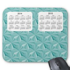 Turquoise Diamonds 2014-2015 Calendar Mousepad  Design from Calendars by Janz