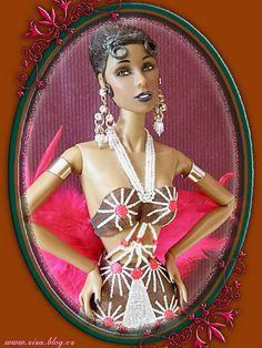 Barbie as Josephine Baker. Fashion Royalty, Josephine Baker by vikk007, via Flickr