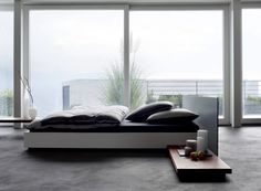 schwebebett lack weiss und schwarz doppelbett bei mobel morschett