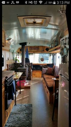 Easy Way Bus Conversion to Big RV Camper Family www.vanchitecture… Easy Way Bus Conversion to Big RV Camper Family www. School Bus Tiny House, School Bus House, Bus Remodel, Converted School Bus, Rv Bus, School Bus Conversion, Camper Conversion, Bus Living, Living Room