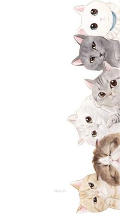 Wallpaper 119 - Best of Wallpapers for Andriod and ios Iphone Wallpaper Cat, Cute Cat Wallpaper, Kawaii Wallpaper, Pastel Wallpaper, Cute Wallpaper Backgrounds, Pretty Wallpapers, Animal Wallpaper, Cute Cartoon Wallpapers, Illustration