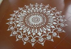 Kolam rangoli designs are made in South India. They are pretty, intricate patterns made duing festivals. Make kolam rangoli designs for Ugadi and Pongal. Rangoli Designs With Dots, Beautiful Rangoli Designs, Kolam Designs, Indian Rangoli, Diwali Rangoli, Hand Embroidery Patterns, Zentangle Patterns, Flower Mandala, Mandala Art