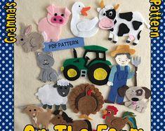 On the Farm Felt Board Pattern features 12 Animals a Farmer | Etsy
