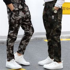 db4ccb7224b Children Jeans Pants 2019 Spring Autumn Korean Version Kids Casual  Camouflage Trousers For Boys 4 6 8 10 12 Years Pants DWQ025
