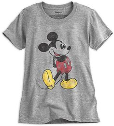 Disney Mickey Mouse Classic Heathered Tee for Men Size MENS XL Gray: Mickey's timeless tee shirt pose is always in fashion on this soft, heathered jersey knit tee with vintage styling. Mickey Mouse T Shirt, Vintage Mickey Mouse, Disney Mickey Mouse, Baby Disney, Vintage Disney, Minnie Mouse, Disney Tees, Disney Shirts For Family, Disney Outfits