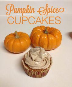 Pumpkin Spice Cupcakes #Fall #Recipes