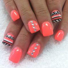 Orange nails pretty