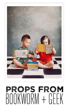 Photo Booth Props PRINTABLE PROPS- BOOKWORM EDITION