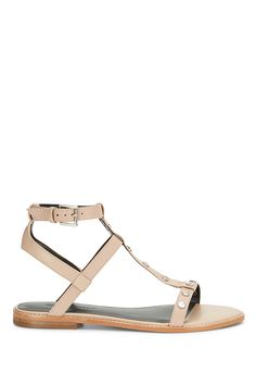 78dab597a25 These are classic flat strappy leather sandals with a little rock and roll  appeal (hello