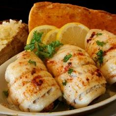 Yield: 6 Servings  Ingredients:  6U.S. Farm-Raised Catfish fillets (about 6 ounces each)  2can (6 ounces each) lump crabmeat, drained and flaked  1cup Italian-flavored bread crumbs  1rib celery, finely chopped  2eggs  2tablespoon mayonnaise  4tablespoon (½ stick) butter