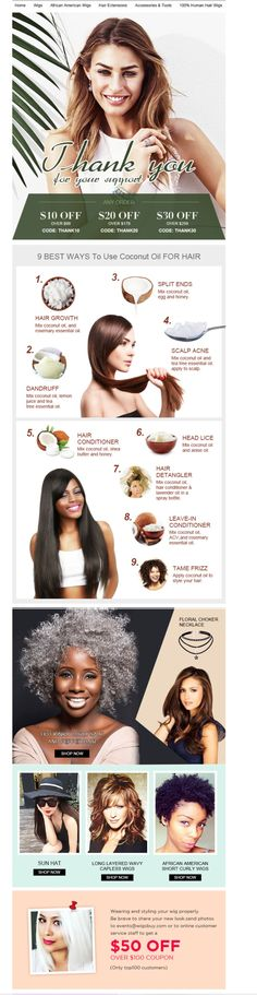 9 Best ways to Hair Care with Coconut Oil #haircare #coconut