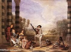 Learn more about Les Charmes de la Vie (The Music Party) c. 1718 Jean-Antoine Watteau - oil artwork, painted by one of the most celebrated masters in the history of art. Rococo Painting, Oil Painting Reproductions, Jean Antoine Watteau, Nogent Sur Marne, Web Gallery Of Art, French Rococo, Baroque Art, Music Party, Art Database