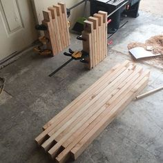 Simple box joint 2x4 bench: