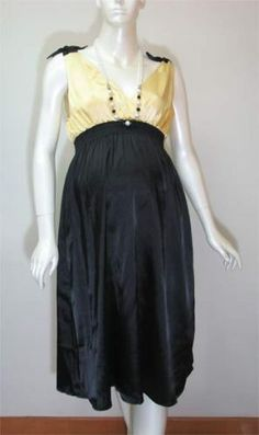 Gold & Black Maternity Dress - Size 10 - Mothers R Us