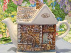 Teapot Sadler Wellington England The Old Mill by twocheekychicks. $24.00, via Etsy.