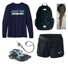 """""""lazy day at school"""" by ragt ❤ liked on Polyvore featuring Patagonia, NIKE, Chaco, The North Face, Vera Bradley and Avon"""