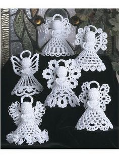 Crochet angels. These are adorable. Can't get the link to work yet, but want to remember the picture!