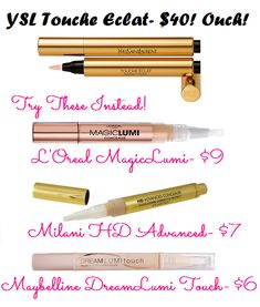 YSL Touche Eclat Dupes- www.lipstickdupe.com #dupe #YSL dupe #concealer