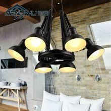 Personalized vintage spider wrought iron pendant light office lamp(China (Mainland))