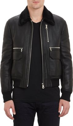 Exemplaire Shearling Aviator Bomber