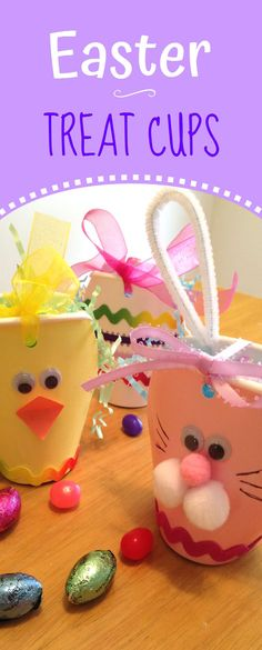 Make these cute Easter Treat Cups out of pastel paper cups and supplies you probably already have on-hand.