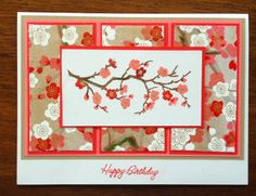 Cherry Blossom Branch Card and Envelope - inspired by one I saw on Splitcoast a long time ago