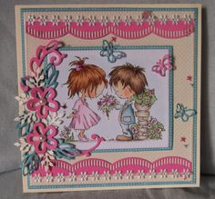 ink'n'rubba Don and Daisy stamps DDS3330 and DDS3333, Marianne Design paper, lace and die cuts