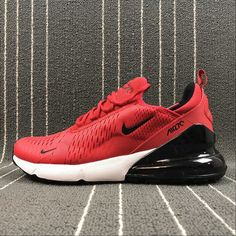promo code a99f9 54f2e Legit Cheap Nike Air Max 270 Latest Styles Running Shoes 2018 Flyknit Red Black  AH8050-