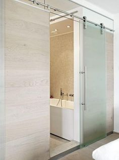 Sliding door bathroom