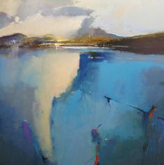 Loch Linnhe by Peter Wileman. This colourful landscape depicts a lake and… Abstract Landscape Painting, Landscape Art, Landscape Paintings, Abstract Art, Paintings I Love, Beautiful Paintings, Wow Art, Contemporary Landscape, Oeuvre D'art