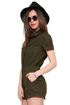 Sargent Romper in Olive | Necessary Clothing