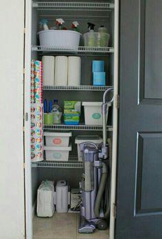 Cute cleaning closet