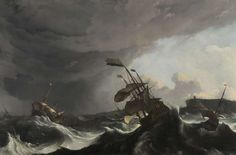Ludolf Bakhuysen | c. 1695 | Warships in a Heavy Storm