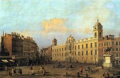 The Strand front of Northumberland House, 1752, Canaletto,